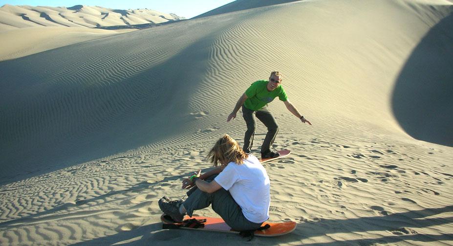 Sandboarding in Nazca